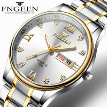 Reloj Hombre Luxury Brand Watch Men Stainless Steel Diamond Men's Quartz