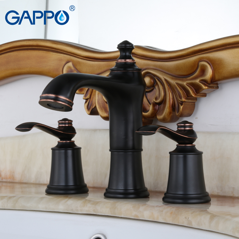 GAPPO basin faucet bathroom bath faucets waterfall sink taps deck mounted Water mixer shower mixers tap Sanitary Ware Suite