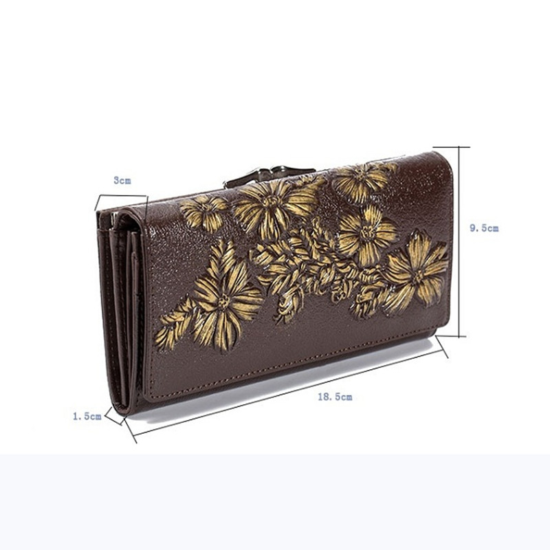 Floral Embossed Long Wallet Bags and Wallets Best Seller Hot Promotions Women's Wallets