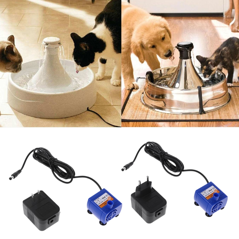 Automatic Pet Cat Puppy Water Drinking Fountain Silenced Fountain Pump Power Adapter