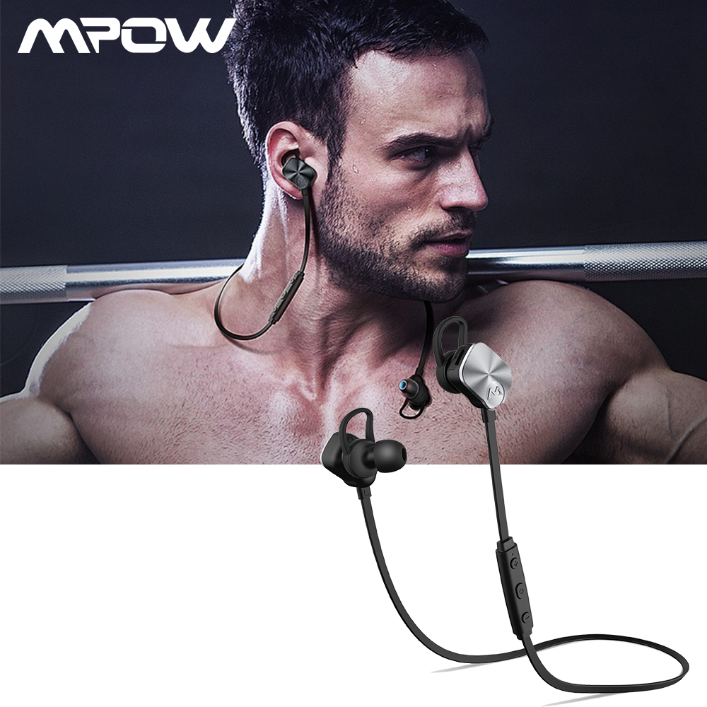 Mpow MBH29 Wolverine Bluetooth 4.1 Headset Metal Wireless Headphones In-Ear Remote Sport Mic Stereo Headset Non-magnetic Control mpow wireless headphone bluetooth 4 1 in ear headset with remote control