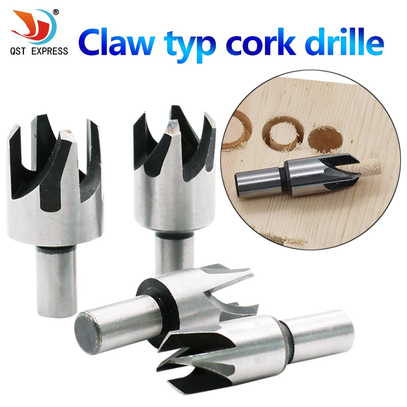 4 X Wood Plug Hole Cutter Cutting Dowel Maker Worktop Kitchen Shank Tools Tap Carpenter Wood Working Model Maker Tools Carpentry