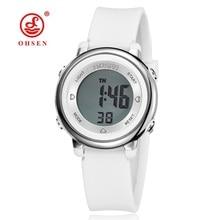 Caramelo de La Jalea Del Reloj Mujer Reloj de OHSEN Impermeable 50 M Digital Al Aire Libre Reloj Deportivo Mujeres Simple Pequeño Brazalete de Muñeca de la Mano de Hora regalo