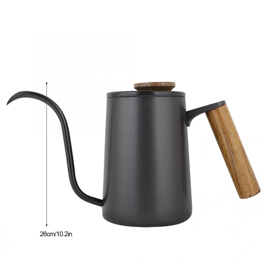 Image 2 - Cafeteira Expresso 600ml Fashion Stainless Steel Handle Drip Coffee Pot Long Gooseneck Spout Kettle Prensa Francesa Cafe ToolsCoffee Pots   -