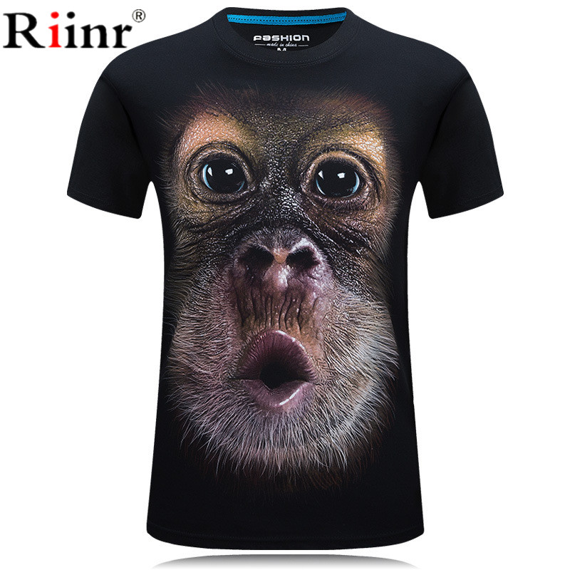 NEW Summer 3D Tshirt Men Dog Orangutan 3D Print Tees Shirt Short Sleeve Tops New Hipster Casual Streetwear Plus Size 5XL