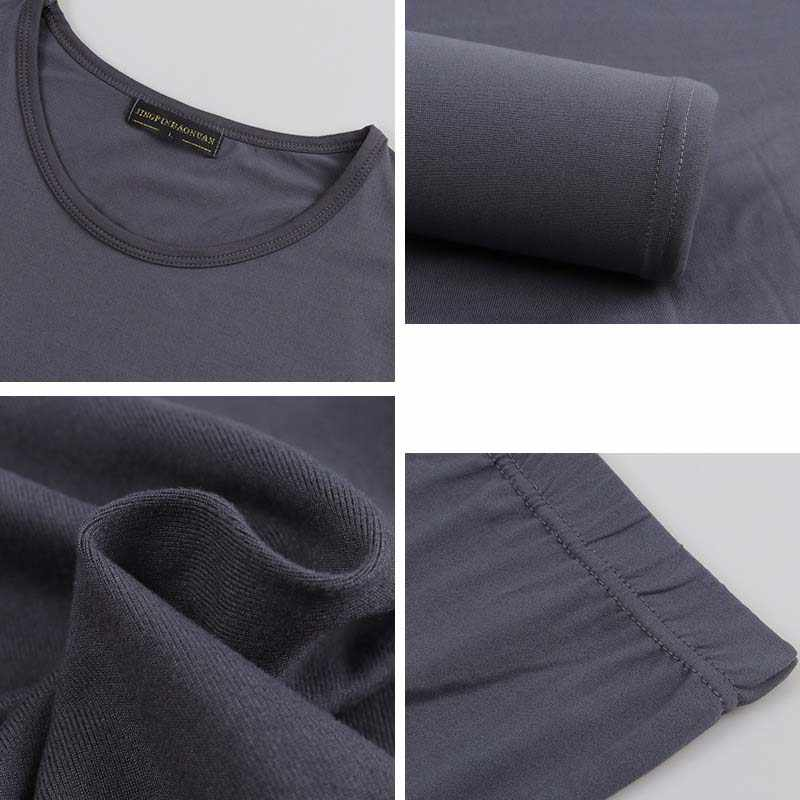 Queenral sous-vêtement thermique pour femmes/hommes vêtements d'hiver Long Johns grande taille 2XL 3XL 4XL 5XL 6XL ensemble de sous-vêtement thermique chaud