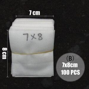Image 3 - MUCIAKIE 100PCS ผ้าแบนเนอสเซอรี่ Grow ถุงย่อยสลายได้ปลูกกระเป๋าเป็นมิตรกับสิ่งแวดล้อมระบายอากาศพืชรากป้องกัน