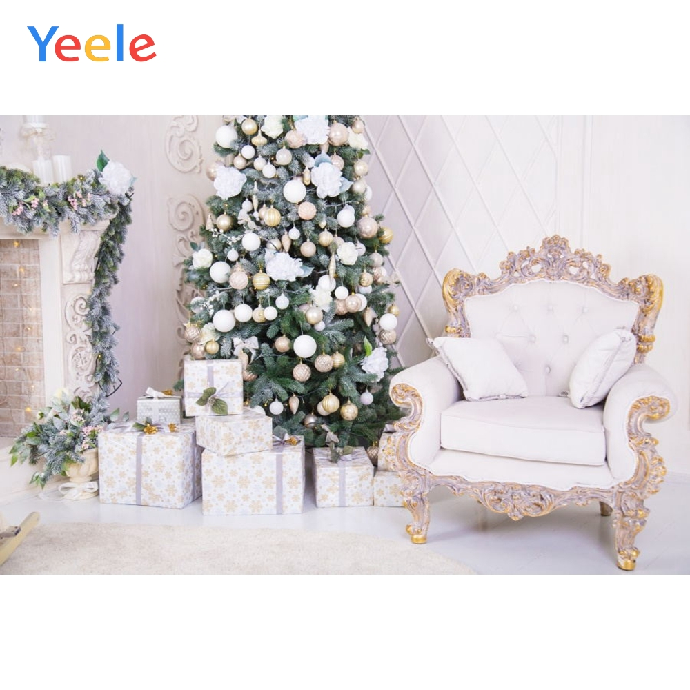 Yeele Photography Backdrops White Interior Chair Christmas Children Portrait Gift Photographic Backgrounds For the Photo Studio