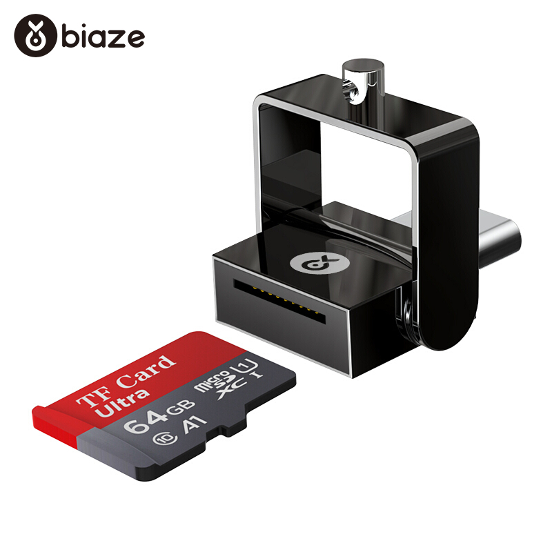 Biaze USB-C Card Reader 16G 32G 64G 128G 256G TF Card OTG Memory Card Adapter For Laptop Phones Type C Micro SD Card Reader C10