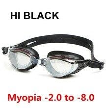 Силиконовые противозапотевающие водные диоптрии для плавания, очки, маска для взрослых по рецепту, оптические очки для плавания для близорукости