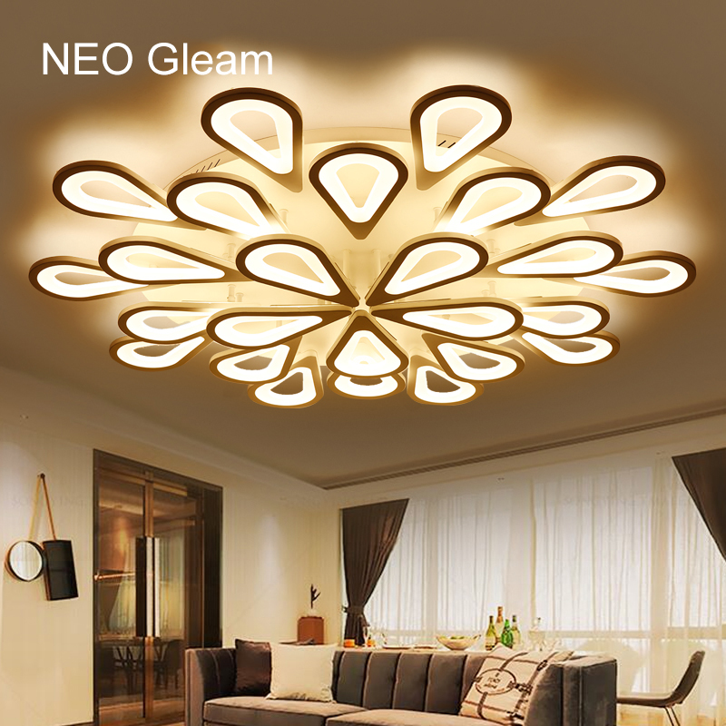 NEO Gleam Modern Led Ceiling Lights For Indoor Lighting plafon led Round Ceiling Lamp Fixture For Living Room Bedroom luminaria modern led ceiling lights for indoor lighting plafon led square ceiling lamp fixture for living room bedroom lamparas de techo