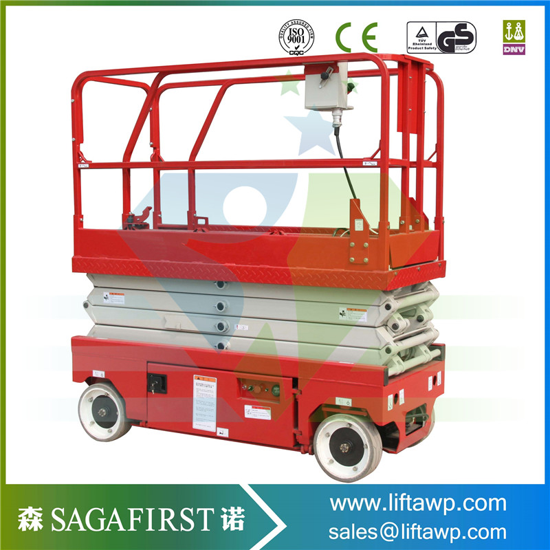 6m Portable self-propelled scissor type hydraulic lift platform for aerial work ...