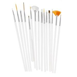 Image 5 - LKE 20 pcs/set Nail Art Design Set Dotting Pen Drawing Nail Varnish Gel Polish Brush for Manicure Nail Art Tools Nails Art Brush