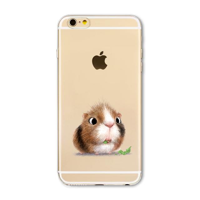 Cute Cat Owl Animal Phone Case For Apple iPhone 6 6S 6Plus 6s Plus 4 4S 5 5S SE