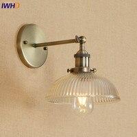 IWHD ברזל Wandlamp לופט בציר מנורת קיר LED מתכוונן E27 4 W אהיל זכוכית חדר רחצה רטרו גופי אור לחות יחסית בית תאורה