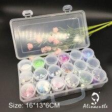Коробка для хранения, 18 ячеек, органайзер для ювелирных изделий, коробка для ногтей, коробка для рукоделия, чехол для скрапбукинга, дисплей, коробка для драгоценных камней, блестки, кристалл Alinacraft