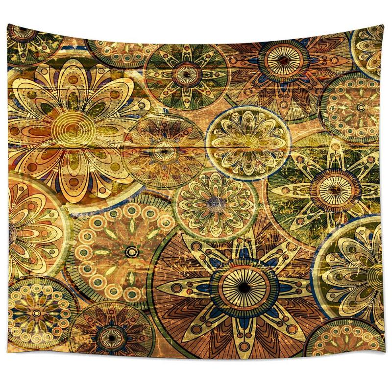 Printing Tapestry Polyester Wall Hanging Bohemian Beach Towel ...
