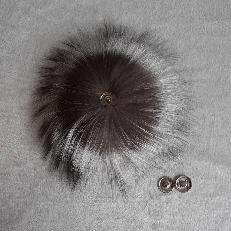 Mode Bont Grote Echte echte Silver Fox Bont Pompom Bont Pom Poms Haar Accessoires Bont Pompon Bal Voor Schoenen Hoeden tassen