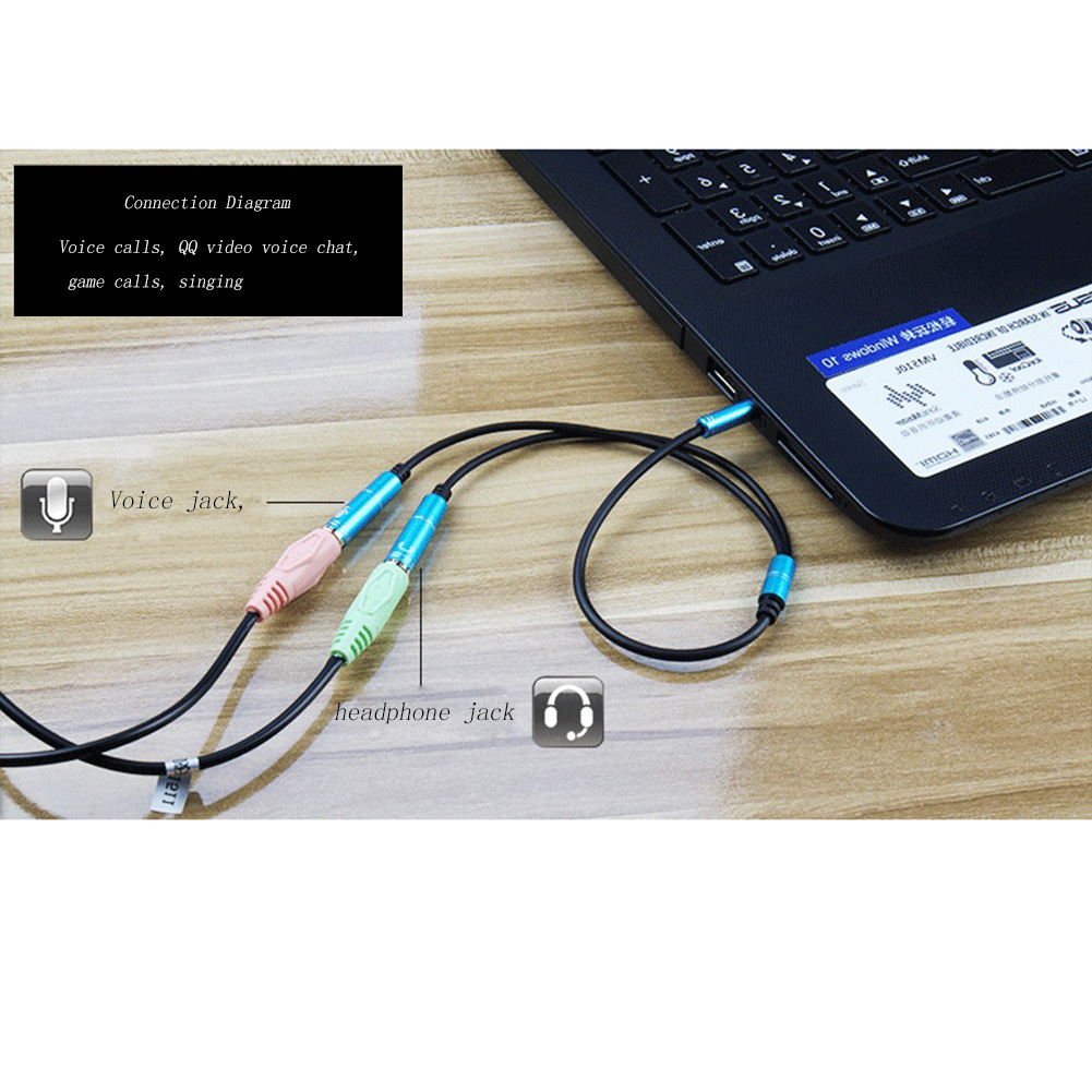 popular aux cord splitter buy cheap aux cord splitter lots from 3 5mm mic headphone splitter audio cable 3 5mm splitte aux cable cord for computer