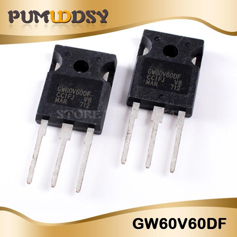 2 pcs STGW60V60DF   STM  IGBT  600V  60A  375W  TO247   NEW  #BP