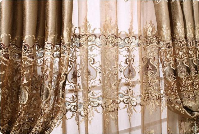 européenne style tulle pour rideaux salon transparent tissu pour
