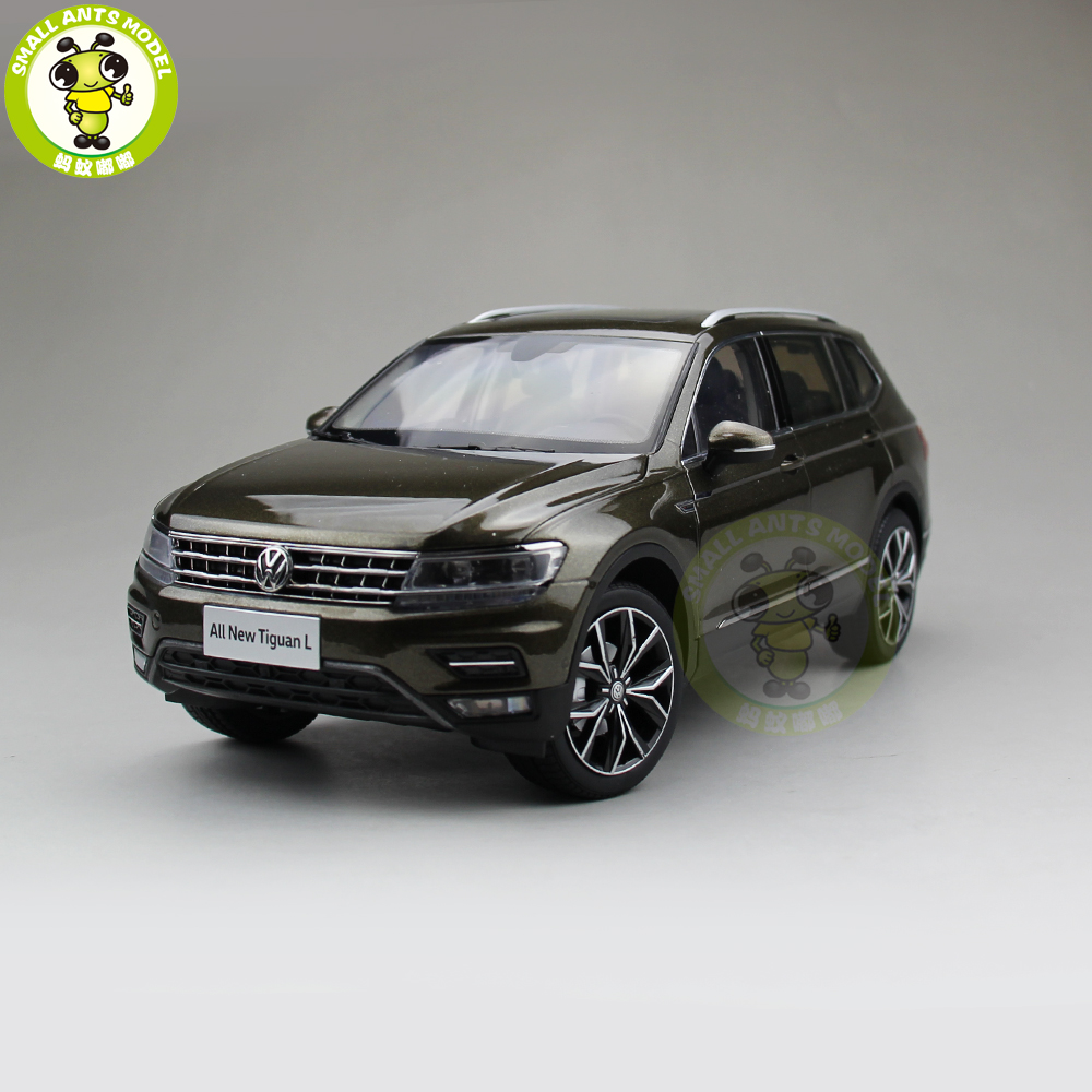 1/18 VW Volkswagen Tiguan L 2017 SUV Diecast Metal SUV CAR MODEL gift hobby collection Brown 1 18 vw volkswagen teramont suv diecast metal suv car model toy gift hobby collection silver
