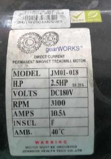 Fast Shipping JM01-018 2.5HP 180V DC motor for treadmill fast shipping dc motor for treadmill model a17280m046 p n 243340 pn f 215392