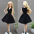 Deep V Original Doll Dress 1:6 Classic Black Dating Eveing Doll Accessories For Girl Doll Toys 3Colors