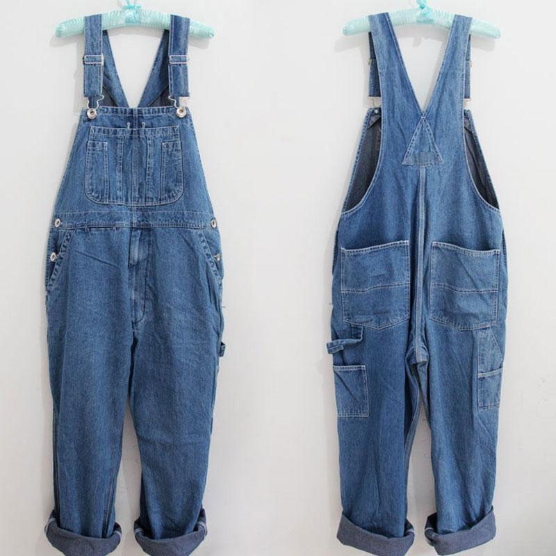 2020 Men's Modis Plus Size Overalls Large Size Huge Denim Bib Pants Fashion Pocket Jumpsuits Male Free Shipping Brand 42 44 46