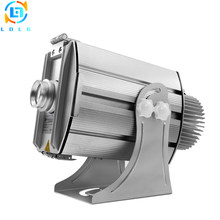 Aluminum Alloy Silver Outdoor Advertising Four Images 40W LED Gobo Projector Rustproof IP65 4500Lumens LED Images Logo Projector(China)