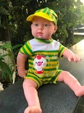 51CM Baby Kids bathe Dolls Reborn Baby Doll Soft Vinyl Silicone Lifelike Newborn Baby font b