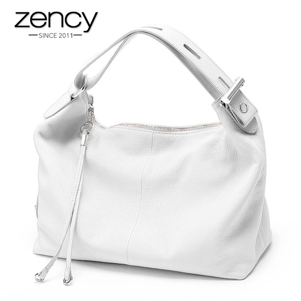 Zency 100 Genuine Leather OL Style Women Tote Bag Fashion Lady Shoulder Bags Classic Handbag Satchel