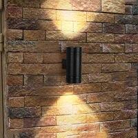 Thrisdar 6 W вверх вниз Водонепроницаемый светодиодный настенный светильник цилиндр открытый сад крыльцо свет балкон проходной водонепроницае...