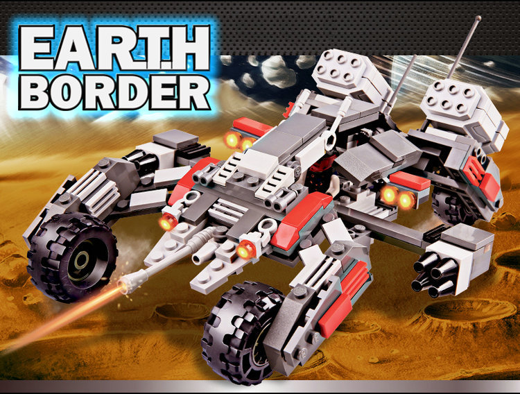 GUDI Earth Border Star War Educational Building Blocks Toys For Children Kids Gifts Robot Compatible With Legoe