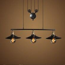 Черный старинный промышленный подвесной светильник чердак стиль огни Творческий lampara Mordern Nordic ретро свет Паук эдисон лампы