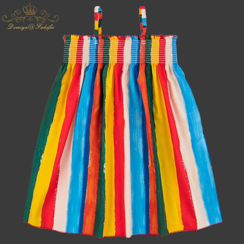 Baby Girls Summer Dress Striped Princess Costume 2018 Brand Kids Colorful Party Dresses for Girls Clothes Vestidos Toddler Dress kids girls dress girls striped dress baby girls summer clothes girls dresses for party and wedding kids clothes 2018 new arrival