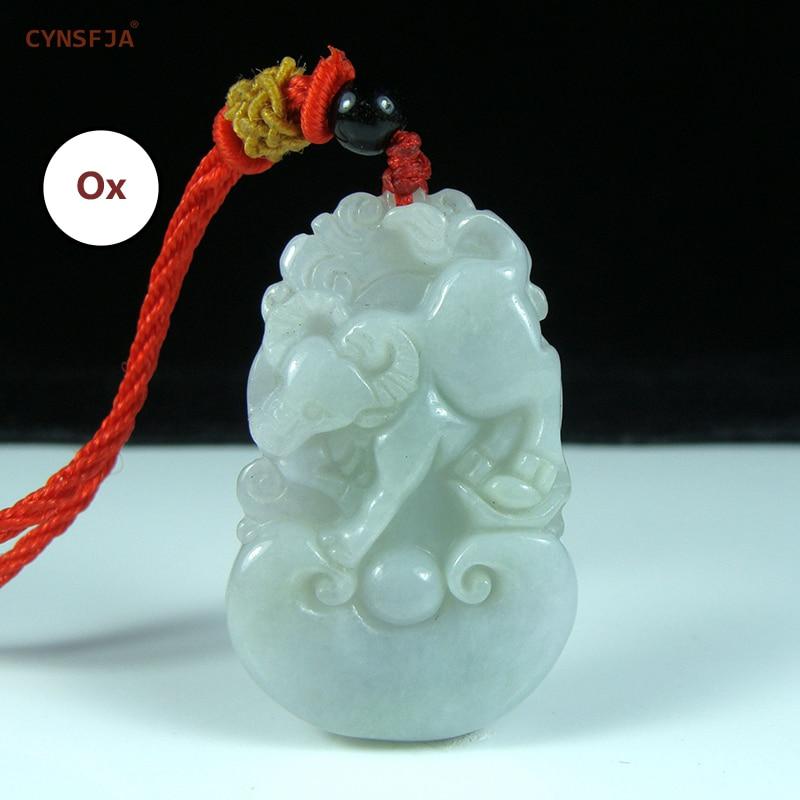 Certified Natural A Grade Burmese Jadeite Emerald Charms Pendants Lucky 12 Zodiac Jade Pendant Wonderful Birthday Gifts On Sale