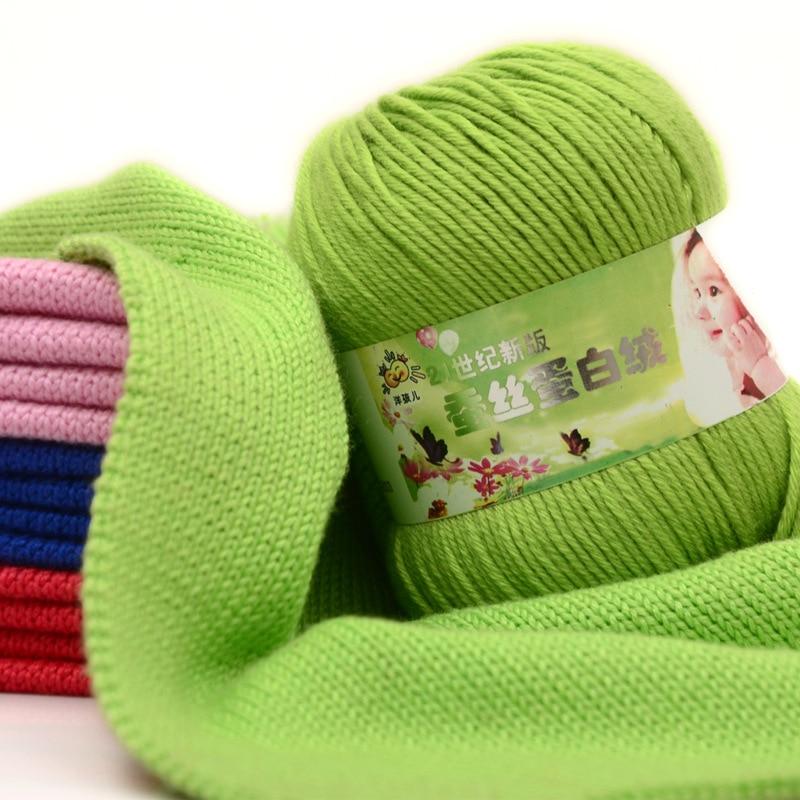 50g/ball Cheap Sale Soft Worsted Silk Velvet Baby Wool Cashmere Yarn Knitting Yarn Crochet Yarn Hand Knitting Thread JK477