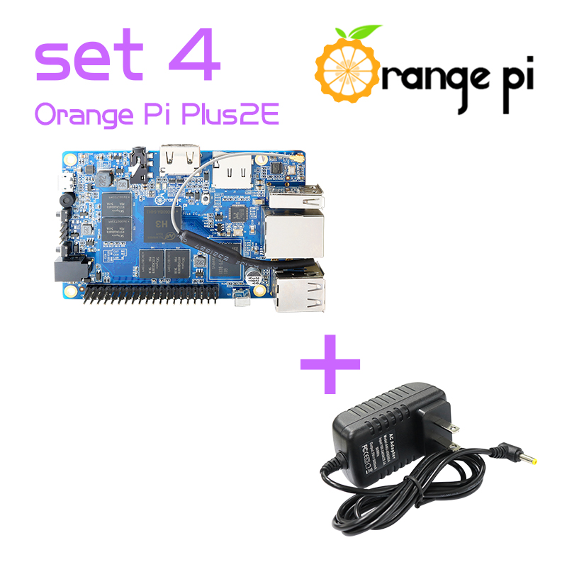 Orange Pi Plus 2e SET4 Pi Plus 2e Power Supply Adapter Support Android Ubuntu Debian