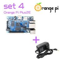Orange Pi Plus 2e SET4: Pi Plus 2e + Power Supply Adapter Support Android, Ubuntu, Debian Better than Raspberry Pi
