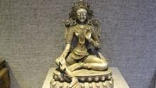 8 «Тибетский Буддизм Старый Чистого Серебра 24 К Золотой Камень Тара Кван-инь Гуаньинь Богиня