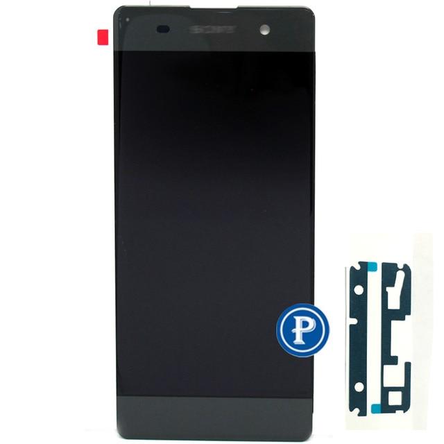 Grafite preto original novo para sony xperia xa f3111 xa Dual competir F3112 display LCD com Tela de toque digitador livre grátis