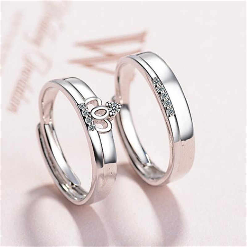 9b95f0efcec4b LULU-PIG Japan and South Korea fashion simple couple 925 pure silver ring  men and women can adjust the ring JZ206