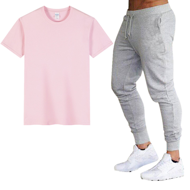 High Quality Ultimate Fighting  Men's Sets T Shirts+pants Two Pieces Sets Casual Tracksuit Male 2019 Tops Casuals T-Shirt Men