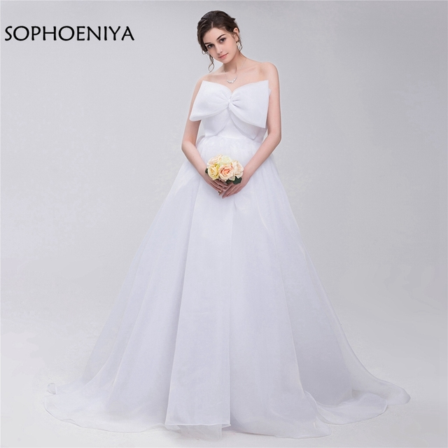 New Arrival White Ivory Ball gown wedding dresses 2018 trouwjurk ...
