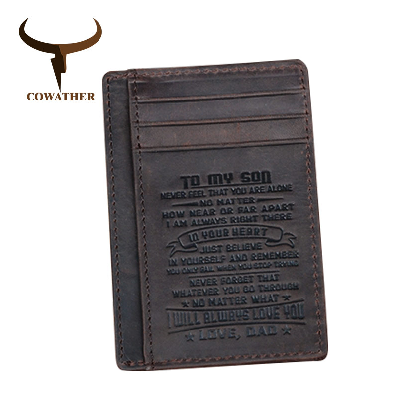 COWATHER top quality cow genuine leather card holder wallets for men 100% cowhide fashion design male credit card purse ivotkova top quality cow genuine leather men wallets fashion splice purse dollar bag price carteira masculina free shipping gift