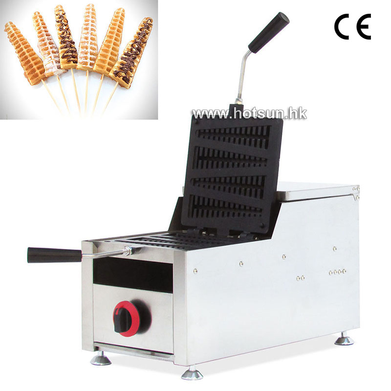 Commercial Non-stick LPG Gas Rotated 4-slice Lolly Waffle Iron Maker Baker Machine commercial non stick lpg gas rotated 4 slice heart shaped waffle iron maker baker machine