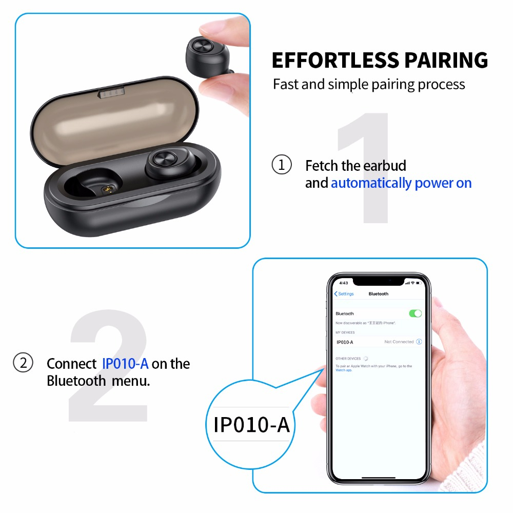 ❤️ Anomoibuds Capsule TWS Wireless Earbuds V5 0 Bluetooth Earphone Headset  Deep Bass Stereo
