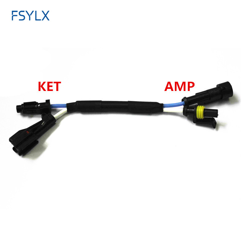 Fsylx Ket Amp Connector Wire Harness For H3 H4 H7 H11 Car