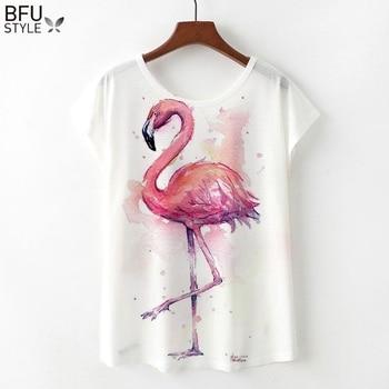 Flamingos Short Sleeve Harajuku T Shirts